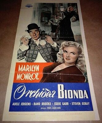 Orchidea Bionda Locandina Marilyn Monroe Cinema Affiche Movie Poster