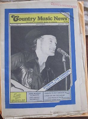 Country Music News January 1989 Stompin' Tom
