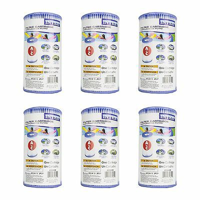 Intex Pool Easy Set Type A Replacement Filter Pump Cartridge (6 Pack)   29000E