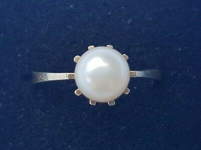 9ct Gold Pearl Ring