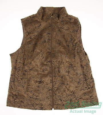 New Womens Sport Haley Golf Vest X-Large XL Brown MSRP $105