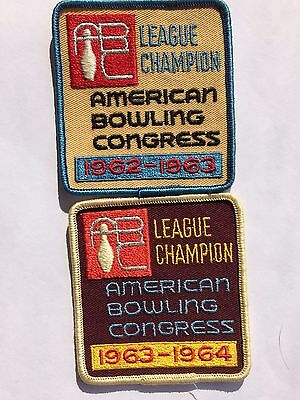 Vtg. AMERICAN BOWLING CONGRESS Patches, League Champion/  Collectible.