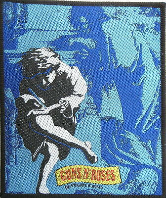 """GUNS N' ROSES AUFNÄHER / PATCH # 7 """"USE YOUR ILLUSION II"""" - 11x10cm - VINTAGE"""