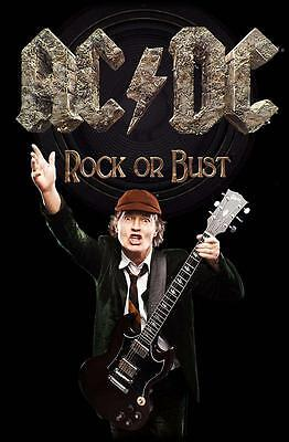 "Ac/dc Flagge / Fahne ""angus Young Rock Or Bust"" Posterflag"