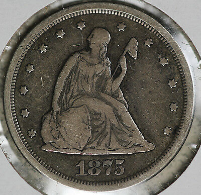 Nice Condition 1875-S Twenty Cent Piece!!