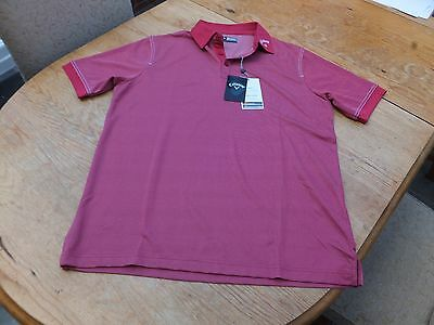 BNWT Callaway Opti-Dri golf polo shirt  Size S  38 inch chest.