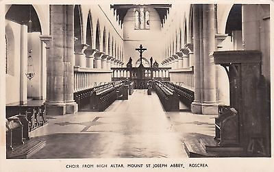 IRELAND - Choir from High Altar, St.Joseph Abbey - Roscrea - Photo Postcard 1966