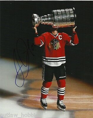 Chicago Blackhawks Jonathan Toews Stanley Cup Signed Autographed 8x10 COA B