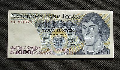 Bank Note Of Poland (People's Republic) 1000 Zloty Copernicus (Mint Condition)