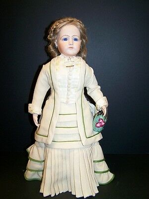 """French Fashion 17"""" Antique Reproduction Doll. Thelma Resch  *Free S&H*"""