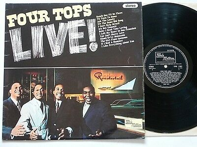 "The Four Tops - Four Tops Live ! - 12"" Vinyl Lp - Tamla Motown - Stereo"
