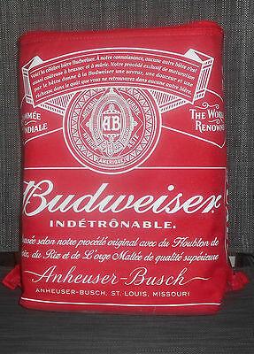 NEW Budweiser Insulated Zippered Cooler Backpack Bag Holds 24 Beer Cans Bud