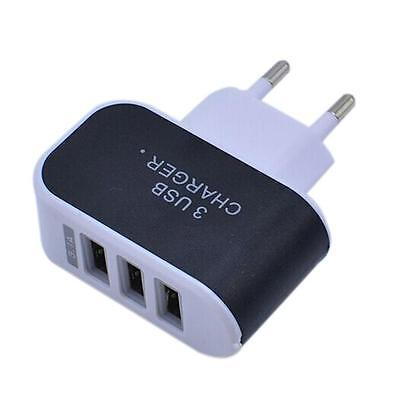 3.1A Triple USB Port Wall Home Travel AC Charger Adapter For Phone EU Plug