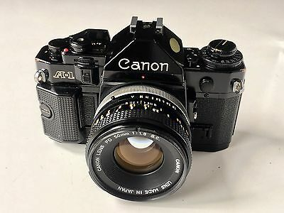 Canon A-1 35mm Film Camera & Canon FD 50mm F1.8 S.C Lens - Excellent t Condition