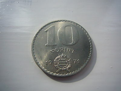 Hungary 10 Forint Coin 1971 Vgc