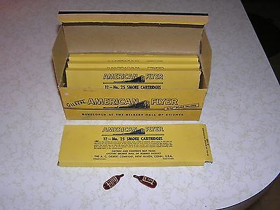 American Flyer Smoke Cartriges S Scale Original Box # 25 4 Insert Parts Gilbert