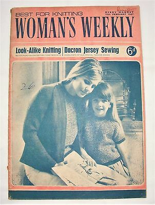 Vintage Woman's Weekly Magazine 11th February 1967- 50 Years Old! Knitting Craft
