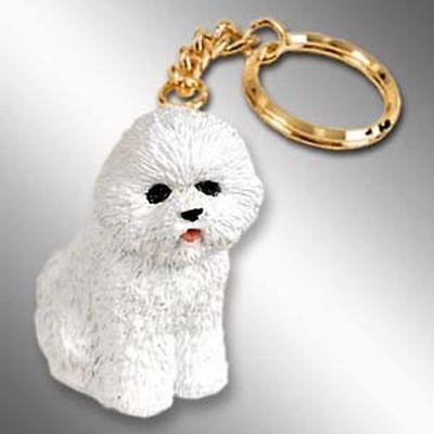 BICHON FRISE Dog Tiny One Resin Keychain Key Chain Ring