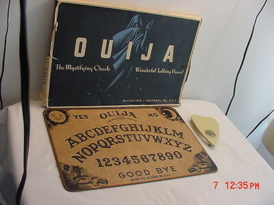 Vintage William Fuld Ouija Talking Board In Original Box With Planchette Haunted