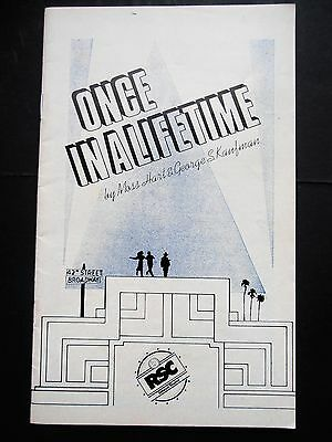 Vintage Aldwych Theatre Programme Once In A Lifetime By Moss Hart & Kaufman 1979