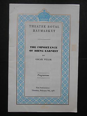 Vintage Theatre Royal Haymarket Programme The Importance Of Being Earnest 1968