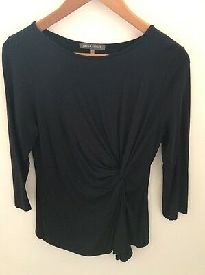 Laura Ashley Blue 3/4 Sleeve Top Size 12
