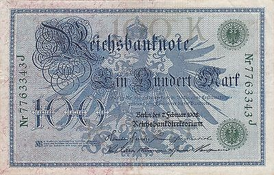 Germany Banknote - 100 Ein Hundert Marks from 1908 - Green seal