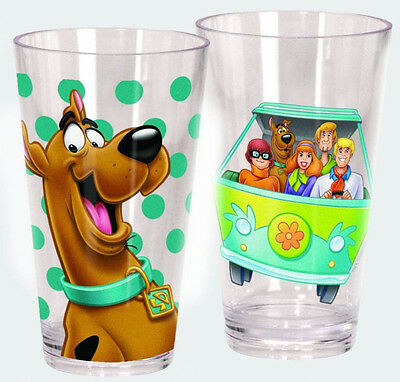 Scooby Doo Set of 2 - 20oz Acrylic Drinking Glasses/Cups