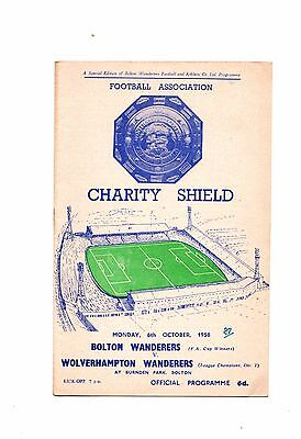 1958 Charity Shield Bolton Wanderers v Wolves
