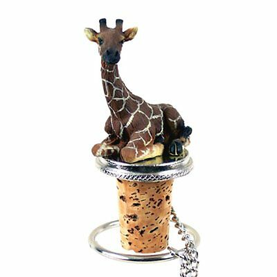 GIRAFFE Hand Painted Resin Figurine Wine Bottle Stopper