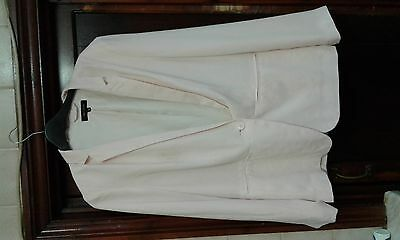 Pale pink/ peach New Look size 14 long sleeved lined jacket