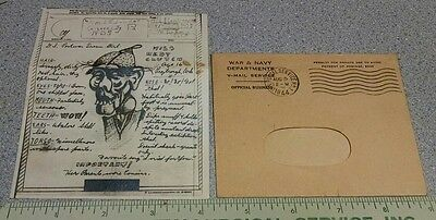 War Department 1944 WWII WW2 Victory Mail V-Mail Japanese Caricature Propaganda
