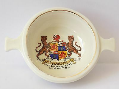Vintage Arcadian Model Of A Highland Whiskey Bowl.farquharson Arms, Ballater