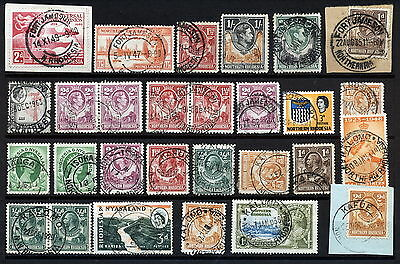 N.rhodesia Interesting Postmarks On Early Issues.      A286