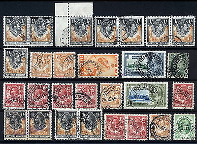 N.rhodesia Interesting Postmarks On Early Issues.      A288