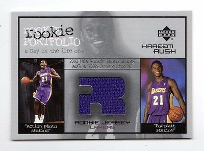 Kareem Rush Nba 2002-03 Upper Deck Rookie Portfolio Jerseys (Lakers)