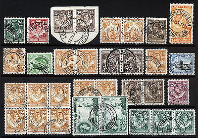 N.rhodesia Interesting Postmarks On Early Issues.      A293