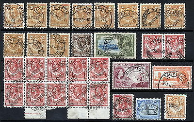 N.rhodesia Interesting Postmarks On Early Issues.      A296