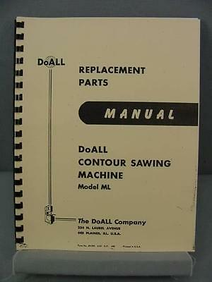 Doall ML Contour Sawing Machine Parts Manual
