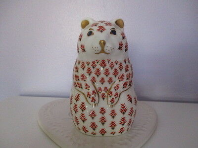 Royal Crown Derby  'hamster' Paperweight -  1St Quality - Gold Stopper