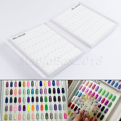 Training UV Gel Tips Display Card 120 Color Polish Chart Book for Nail Art Salon