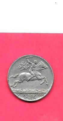 Albania Km5 1920 Vf-Very Fine-Nice Large Old Vintage Lek Animal Coin