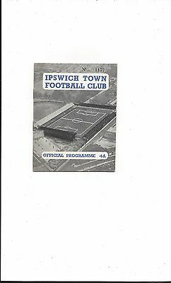 IPSWICH TOWN RESERVES v BRISTOL CITY RESERVES 1958-9 FOOTBALL COMBINATION