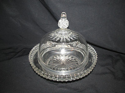 Vintage/Antique? Covered Cheese Dish Glass/Crystal? Must See!!