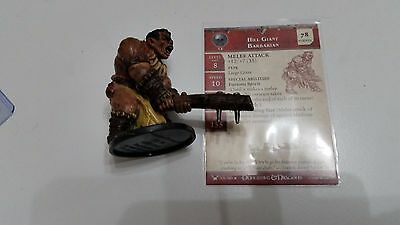 Hill Giant Barbarian Dungeons and Dragons 049 War Drums Miniature D D Mini D & D