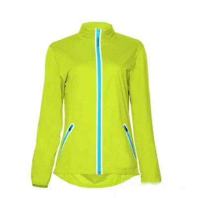 Callaway Golf Womens/Ladies Full Zip Jacket. CGRS4033. New. Lime punch. Large.