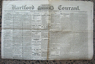 Hartford Courant 1873 Father Murders Daughter Mississippi Horror Mary E Poe ++