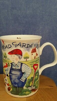 Fine Bone China Head Gardner Mug by Roy Kirkham.
