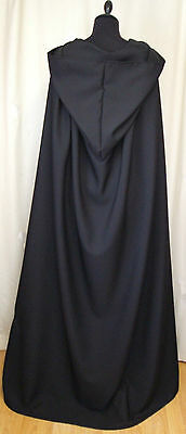 Large Black Hooded Cape  Cape/cloak Dracula - Fancy Dress