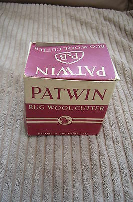 Vintage Patwin Rug Wool Cutter Boxed With Instructions Patons & Baldwins